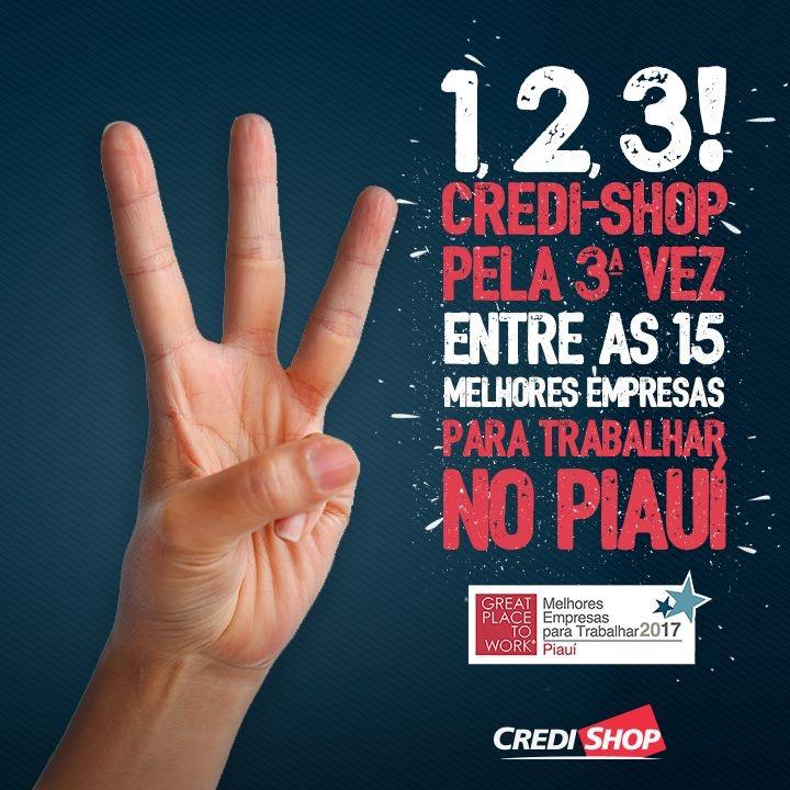 Credi-Shop é eleita uma das melhores empresas para se trabalhar no Piauí